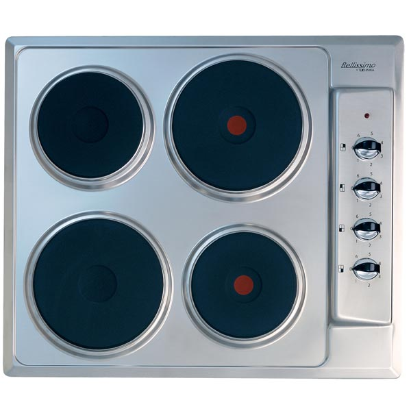 600mm stainless steel electric cooktop